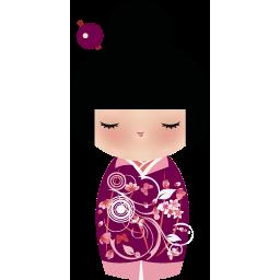 アイコンフリー 女の子人形